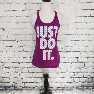 Nike Dri Fit Just Do It Tank Violet NWOT